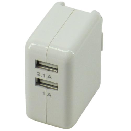 2 Port USB Wall Plug Pwr Ad 1A