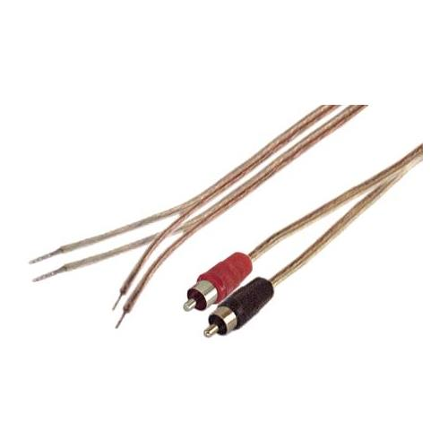 Speaker Wire to RCA M Pair 6ft