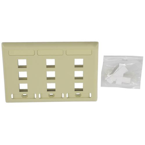Wall Plate White Keystone 3P09